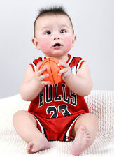 Baby Infant NBA Romper Jumpsuit Jersey Chicago Bulls - Michael Jordan (with bib)