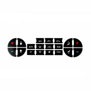 AC Dash Control Button Repair Decal Stickers Kit for Chevrolet GMC