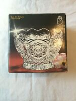 Vintage Imperlux 24% Lead Crystal Bowl Sunrise Collection Western Germany In Box