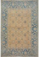 Ushak Hand-Knotted Wool Vegetable Dye Wool Rug Palace Size Oriental Carpet 13x15