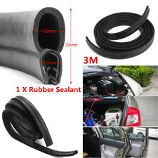 "118"" Car Door Channel Edge Rubber Weather Seal Hollow Strip Weatherstrip Sealing"