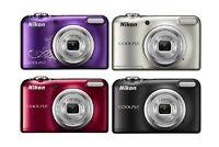 Nikon Coolpix A10 16.1MP 5x Zoom Compact Digital Camera Black / Red / Silver
