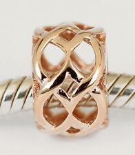 SOLID 9CT 9K ROSE GOLD Ornate Fancy Garden Lattice Bead For Charm Bracelet AUST