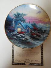 Collector Plate Coa Knowles Seaside Cottage Thomas Kinkade
