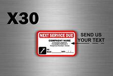 50x sticker next service prochaine revision voiture entretien personnalisable