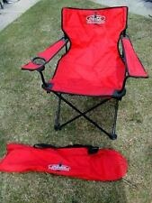 Used Coca Cola Red Aluminum & cloth Folding Lawn Chair Beach Camping Retro Patio