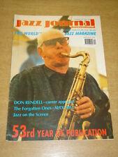 JAZZ JOURNAL INTERNATIONAL VOL 53 #12 2000 DECEMBER DON RENDELL ALEX HILL