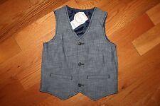 NWT Gymboree Blue Safari Boy Size 2T-3T Blue Chambray Vest