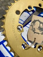 Pro Neck Chainring Sprocket 45T Mid Old School BMX Gold National Pro Tuf Neck GT