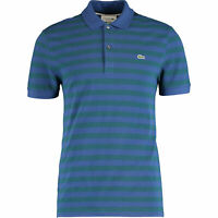 New Lacoste Polo Shirt Size 8 3XL Blue / Green Stripe TShirt Regular Fit