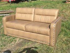 "2014 Villa International  Sofa 68"" Ultraleather boat RV motorhome couch Coffee"