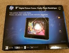 """HP 8"""" Digital Photo Picture Frame df808c1 w Remote 5 in 1 Memory Cards"""