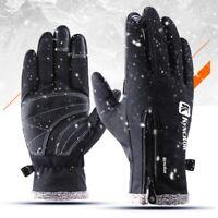 Winter Outdoor Sports Bike Cycling Full Finger Gloves Warm Touch Screen Mitten