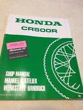 Honda CR500R CR 500 R CR500 supplement revue moto technique manuel atelier 500CR