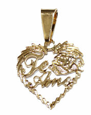 Te Amo Heart Pendant 18k Gold Plated with 20 inch Chain - Te Amo Necklace