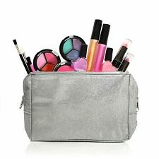 Kids Makeup Set For Girls With Glitter Cosmetics Bag - Real Washable Girls Makeu