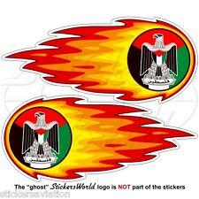 PALÄSTINA Flammende, Feuerballs Palästinensischen Staat Sticker, Aufkleber x2