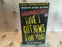 Have I Got Unbroadcastable News For You VHS Video Tape Comedy TBLO