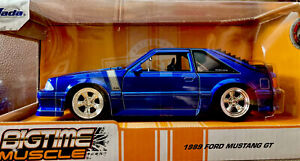 Jada Bigtime Muscle 1989 Ford Mustang GT Blue Fox Body. 1/24 Scale.