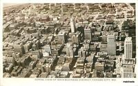 1940s Kansas City Missouri Aerial View Business District RPPC Real photo 6273