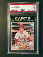 1971 Topps #117 Ted Simmons Rookie St. Louis Cardinals Baseball Card PSA 7 NM