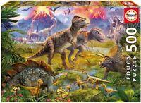 KD Toys 15969 Educa Borras Dinosaur Gathering 500 Jigsaw
