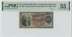 Fourth Issue 25 Cents Fractional FR#1303 PMG 55