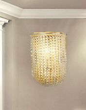 Applique in vetro trasparente e metallo oro coll. Dese 3512-1A
