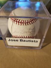 Jose Bautista (future HOF) Autographed baseball- COA directly from Blue Jays