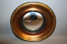 """Glace / Miroir dit """"oeil de sorcière"""" style Napoléon III Noir/cuivré Diam 19 cm"""