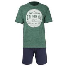 Tom Tailor  Herren Pyjama Schlafanzug kurz Shorty 52/L  grün blau  Klima aktiv