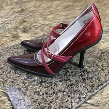 Kenneth Cole Unlisted Sz 6 M Burgundy Red Mary Jane Buckled Pumps Heels