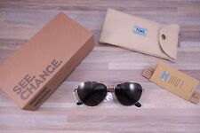 *NEW* TOMS $139 Maverick Gold & Walnut Wood Aviator Sunglasses