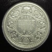 British India 1/2 rupee 1914 Bombay mint, Silver!