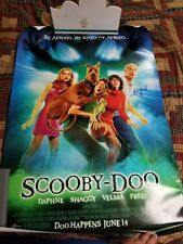 Scooby Doo movie poster signed autographed Fred/Daphne Sarah Michelle Gellar