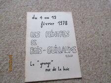 REVUE LES PEINTRES DE BOIS GUILLAUME A LA GRANGE fevrier 1978