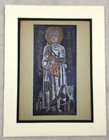 1929 Antique Print Italian Mosaic St. Peter's Basilica Rome Italy Byzantine Art