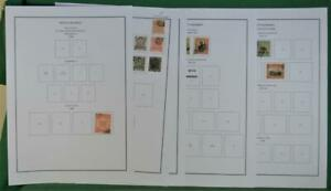 NORTH BORNEO STAMPS ON 12 PAGES USED  (R18)