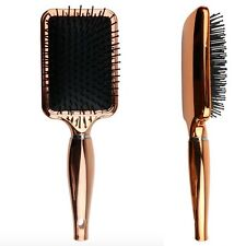 New! Aria Beauty Luxe Chrome Detangling Paddle Brush Extended Bristles Smoothing