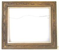 VINTAGE HAND CARVED GILDED WOOD FRAME FOR PAINTING  24 X 20 INCH