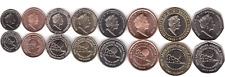 Gibraltar _ set 8 coins 1 2 5 10 20 50 Pence 1 2 Pounds 2018 UNC Lemberg-Zp