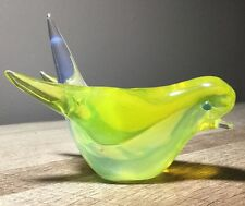 Vintage Murano Sommerso Art Glass Bird BEAUTIFUL