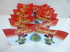 Pair of Disney Minnie Mouse Feliz Navidad Christmas Holiday Banners