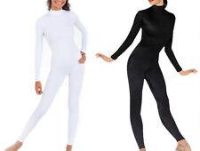 Black & White Lycra Spandex Adult Unitard Catsuit Bodysuit Back Zip