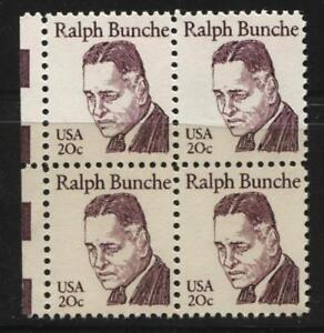 Scotts #1860  20c DR. RALPH BUNCHE Stamp Block of 4, MNH