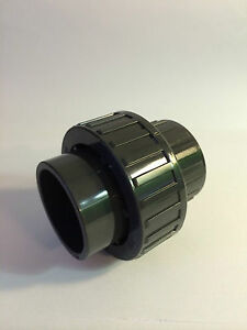 40mm UNION COUPLER CONNECTOR SOLVENT WELD PVC U MARINE SUMP REEF CORAL SAFE