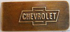 Chevrolet antique finish money clip #K469