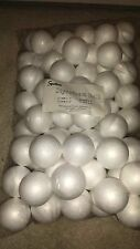 "BAG OF 100 STYROFOAM BALLS 2"" SCHOOL CHRISTMAS ARTS & CRAFTS SMOOTH POLYSTYRENE"