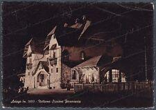 VICENZA ASIAGO 34 STAZIONE - NOTTURNO Cartolina FOTOGR. viagg 1954 - DIFETTI !!!
