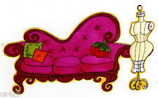 """6.5"""" LORALIE SEW FABULOUS COUCH DRESS FORM FABRIC APPLIQUE IRON ON"""